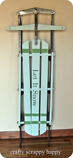 Great clean, simple design on this sled from Crafty, Scrappy, Happy.@pinterest