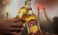 Desperados beer is a full bodied lager flavoured with tequila - a kick of the unexpected