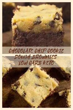 These have a thick, soft cake under a layer of biscuit dough. It is rich and indulgent. Low Sugar Recipes, No Carb Recipes, Sugar Free Desserts, Low Carb Deserts, Low Carb Sweets, Healthy Desserts, Keto Brownies, Low Carb Cookie Dough, Chocolate Brown