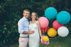 Prengant bride - Colourful End of Summer DIY Wedding: Brad  Christie