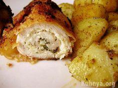 Запеченная курица с сыром грибами