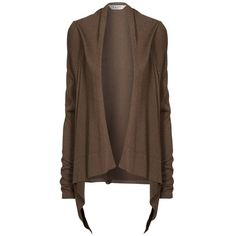 Chocolate brown cotton cardigan. | FASHION :: OUTERWEAR ...