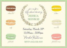 french macaron  green // baby shower invitation by riverandbridge, $30.00