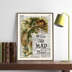 Were All Mad Here Alice in Wonderland Wall Art Alice by demeraki