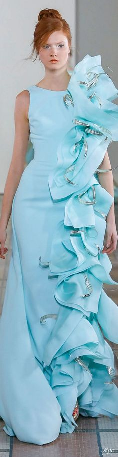 Georges Chakra, Formal Wear, Formal Dresses, Pink Gowns, Glamour, Catwalk Fashion, High End Fashion, Tiffany Blue, Cosplay Costumes