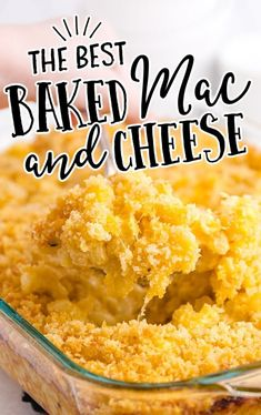 close up shot of baked mac and cheese Homemade Mac And Cheese Recipe Easy, Homemade Mac And Cheese Recipe Baked, Best Mac N Cheese Recipe, Best Macaroni And Cheese, Simple Mac And Cheese, Cheese Recipes, Pasta Recipes, Mac And Cheese Casserole, Twice Baked Potatoes Casserole