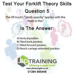 Forklift question of the day 5 from http://ift.tt/1HvuLik #forklift #training #safety #jobsearch