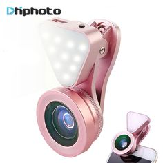 Universal 3 in 1 Phone Camera Lens with Led Flash Light,Wide Angle Macro Lens Clip-on Cell Phone Lenses for iPhone 6 Iphone Camera Lens, Android Camera, Camera Apps, Best Cell Phone Deals, Best Iphone, Iphone 6, Buy Phones, Accessoires Iphone, Led Ring Light