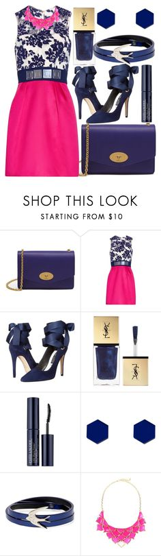 """""""A Little Bit Of Sugar"""" by egordon2 ❤ liked on Polyvore featuring Mulberry, Mary Katrantzou, Alice + Olivia, Yves Saint Laurent, Estée Lauder, Wolf & Moon, McQ by Alexander McQueen and George J. Love"""