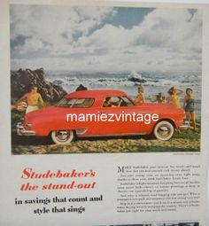 Vintage Studebaker Car Magazine Ad/ Vintage Car by mamiezvintage, $9.95