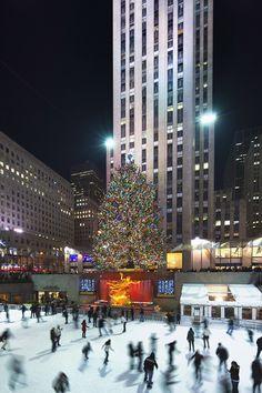 El Rockefeller Center de Nueva York iluminado por Navidad