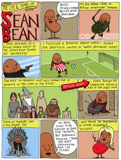 The Life and Times of Sean Bean comic