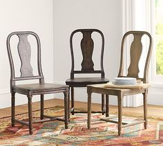 Design a beautiful dining space to entertain friends and family. Pottery Barn's dining tables and chairs are defined by exceptional craftsmanship. Kitchen Chairs, Room Chairs, Table And Chairs, Side Chairs, Kitchen Decor, Room Kitchen, Furniture Upholstery, Dining Room Furniture, Home Furniture