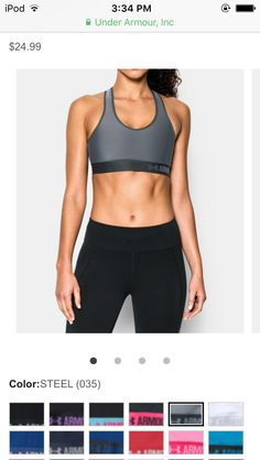 new product 86f10 acdc9 Steel Under Armour sports bra