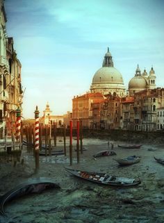 Dry Venice canal