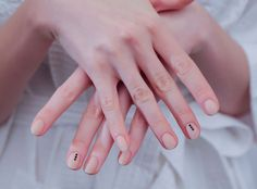 Tibi from Best Manicures & Nail Art at New York Fashion Week Spring 2015  Spotted: Models at Tibi rocking accent nails created with Jin Soon nail polish in Georgette and Chamonix.