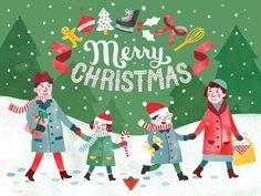 CANADIAN TIRE CHRISTMAS - Jacqui Lee Illustration