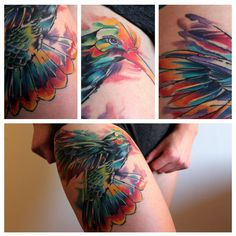 Watercolor Hummingbird by Amy Zager at Tattoo Factory in Chicago - Imgur