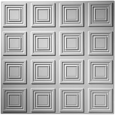 Each Centennial Panel consists of 16 squares and is an appropriate choice when a tighter traditional ceiling patterns is desired. Traditional Tile, Traditional Interior, Interior Ceiling Design, Ceiling Tiles, Hospitality Design, Commercial Interiors, Tile Design, This Or That Questions, Plaster