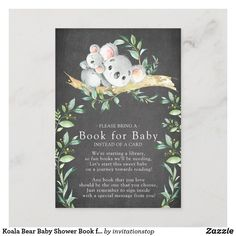 Cards and Gifts Sign Printable Koala Bear Baby Shower Sign Jungle Shower Decoration Gift Table Sign Koala Bear Sign Greenery Gifts Sign 293
