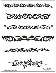 airbrush tattoo stencil | Stencils pour tattoo airbrush