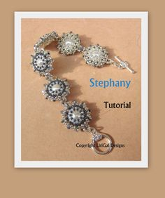 Stephany Pearls Beadwork Bracelet PDF Tutorial by Lirigal on Etsy