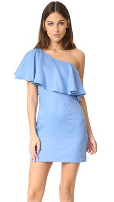 One Shoulder Shift Dress With Pleat Detail - Blue Angel Eye cUVrIDH2t