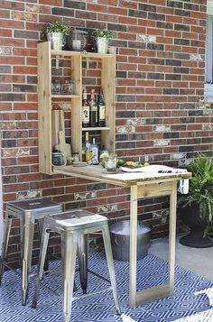 Looking for a DIY outdoor bar idea? This guide is designed to help you find DIY outdoor bars that you would like to have in your backyard and help you make them your own. Here are of DIY Outdoor Bar Ideas To Make Your Patio Sing. Diy Outdoor Bar, Outdoor Living, Outdoor Decor, Outdoor Storage, Outdoor Ideas, Outdoor Tables, Outdoor Fabric, Outdoor Seating, Small Backyard Landscaping
