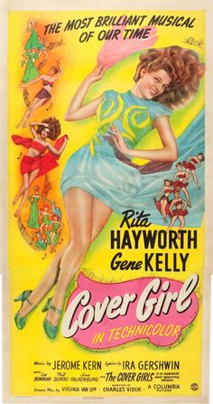 "Movie Posters:Musical, Cover Girl (Columbia, 1944). Three Sheet (41"" X 80"").. ... Image #1"