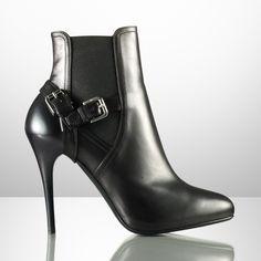 Bottines Viola à godets - Chaussures Femme - Ralph Lauren France Automne-Hiver 2012