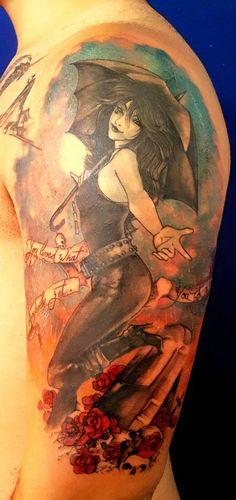 """Minha tatuagem: Morte Death Sandman / """"You lived what anybody get. You got a lifetime."""""""