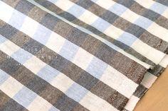 Japanese Fabric Half Linen Yarn Dyed Gingham -  50cm