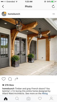 Do you need inspiration to make some DIY Farmhouse Front Porch Decorating Ideas in your Home? When you are trying to create your own unique Farmhouse Front Porch design, you will want to use ideas from those that are… Continue Reading → Farmhouse Front Porches, Modern Farmhouse Exterior, Rustic Farmhouse, Cottage Exterior, Farmhouse Design, Farmhouse Ideas, Farmhouse Interior, Rustic Wood, Craftsman Style Exterior