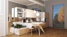 Bucataria Motus Minimalism, Divider, Loft, Bed, Table, Furniture, Home Decor, Decoration Home, Stream Bed