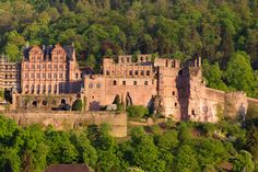 """Heidelberg Castle, Germany. In school they taught us a song, """"I Got Locked Up In The Heidelberg Castle""""...wherein a bunch of monsters attacked the kid stuck overnight! So I was a little worried to visit lol. But it's actually beautiful."""