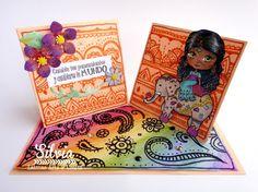 Latinas Arts and Crafts. Tutorial 53: Tarjeta Doble Caballeta