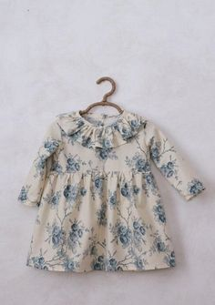 Handmade Blue Floral Dress | SweetHannahBDesigns on Etsy