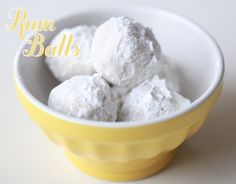 Grandma Zawacki's Rum Butter Balls  Ingredients:  1 cup of pecans or walnuts  1 cup sifted flour  3 tablespoons of sugar  1/2 cup butter – cut in pieces at room temperature  2 tsp. Rum or Brandy  Confectioners Sugar for dusting