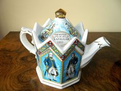 Vintage Sadler Ceramic Lord Nelson Battle of Trafalgar Teapot 1805 Teapot, Vintage Items, Battle, Lord, Ceramics, Tableware, Ebay, Decor, Ceramica