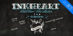 Check out the Inkheart font at Fontspring. Inkheart is a handmade font family of 22 fonts designed to play together. Pretty Fonts, Beautiful Fonts, Cool Fonts, Hand Drawn Fonts, Hand Lettering Fonts, Letter Fonts, Alphabet Fonts, Typography Fonts, Texture Web