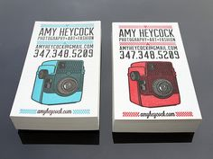 Custom letterpress business cards by Print & Grain (Via Designworklife)