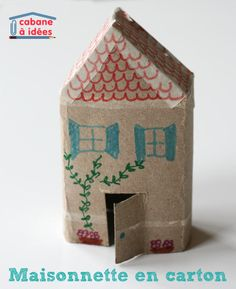 little toilet paper roll house Easy Crafts For Kids, Diy For Kids, Roll House, Cardboard Toys, Idee Diy, Pinterest Diy, Toilet Paper Roll, Camping Crafts, Recycled Crafts