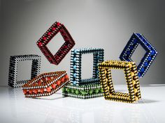 Cubic RAW Square Bangles by Suzanne Golden, lots more amazingness through this…