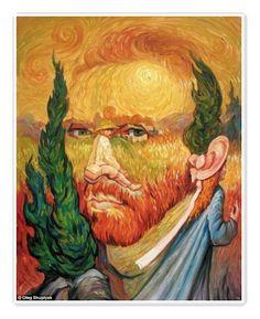 Van Gogh Illusion art by Oleg Shuplyak  Tags: art