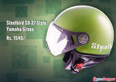 #Helmet Steelbird SB-27 Style Yamaha Green #bikers order now from www.yooshopper.com.