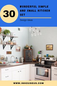 30+ Wonderful Simple and Small Kitchen Set Design Ideas #kitchen #kitchendesignideas Wooden Play Kitchen, Rustic Kitchen, Kitchen Decor, Small Kitchen Set, Play Kitchen Sets, Kitchen Backsplash, Kitchen Cabinets, Kitchen Organization, Cupboard