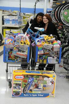 Jessica and Fay picking out toys for our annual Toys for Tots toy drive that brought smiles to a lot of little faces! The ladies even reminisced on the best tactics to keep Barbie's shoes on her feet while playing!