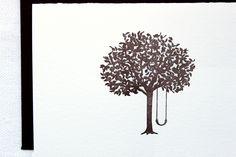 Tree Swing Letterpress Cards. Set of 6. $15.00, via Etsy.