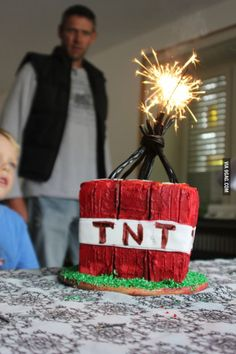 A lot of people has been asking if I play Minecraft, and I do. So I thought I'd make a quick Minecraft TNT cake to show my enthusiasm for the game. Minecraft Birthday Party, Minecraft Cake, 9th Birthday, Birthday Parties, Birthday Ideas, Play Minecraft, Minecraft Shoes, Birthday Cakes, Minecraft Cookies