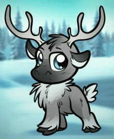 how to draw chibi sven from frozen